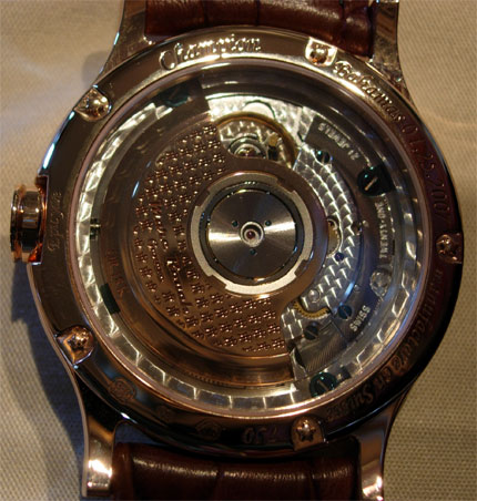 Back of exclusive Marc Rouah watch going to winner of PGM